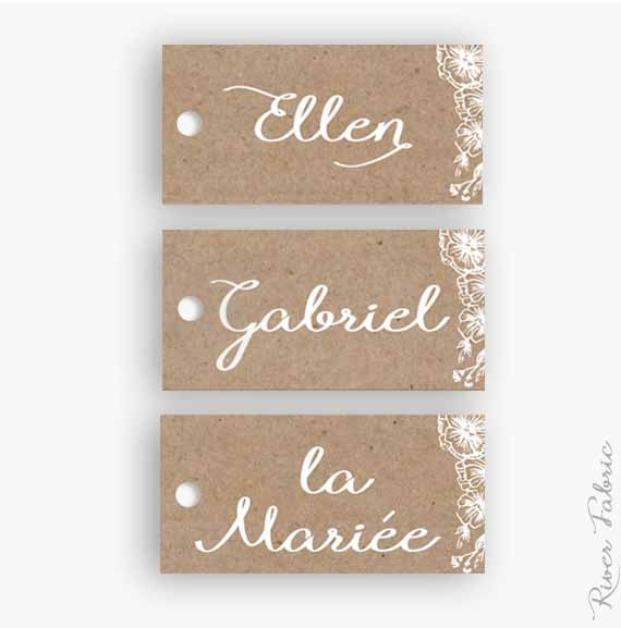 Marque place botanic river fabric - Marque place mariage champetre ...